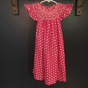 Smocked Polka Dot Dress 18mo